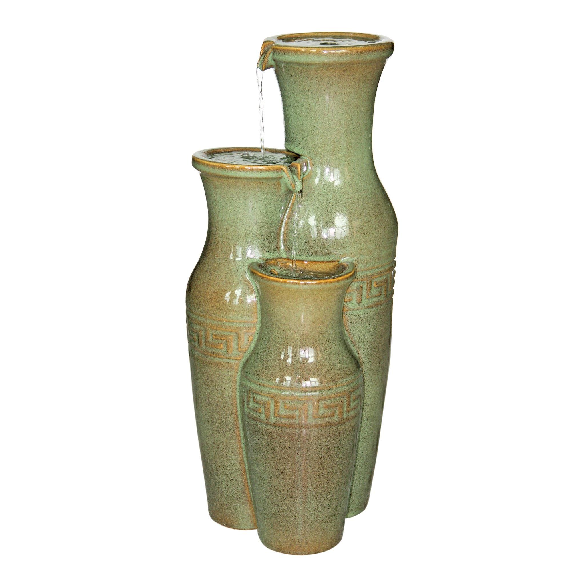 Design Toscano Ceramic Grecian Jars Garden Fountain by Design Toscano