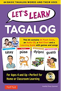 Tuttle tagalog for kids flash cards kit includes 64 flash cards lets learn tagalog kit 64 basic tagalog words and their uses flashcards audio ccuart Image collections