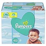 Pampers Toallitas De Limpieza Perfumadas para Bebé, 432 Unidades, Color