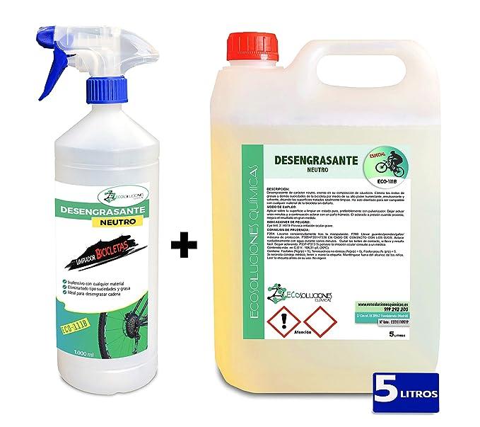 Ecosoluciones Químicas ECO-111 | 5 litros | Desengrasante Neutro para Bicicletas | Protege Todas Las Piezas de la Bicicleta | Desengrasante Cadenas | ...