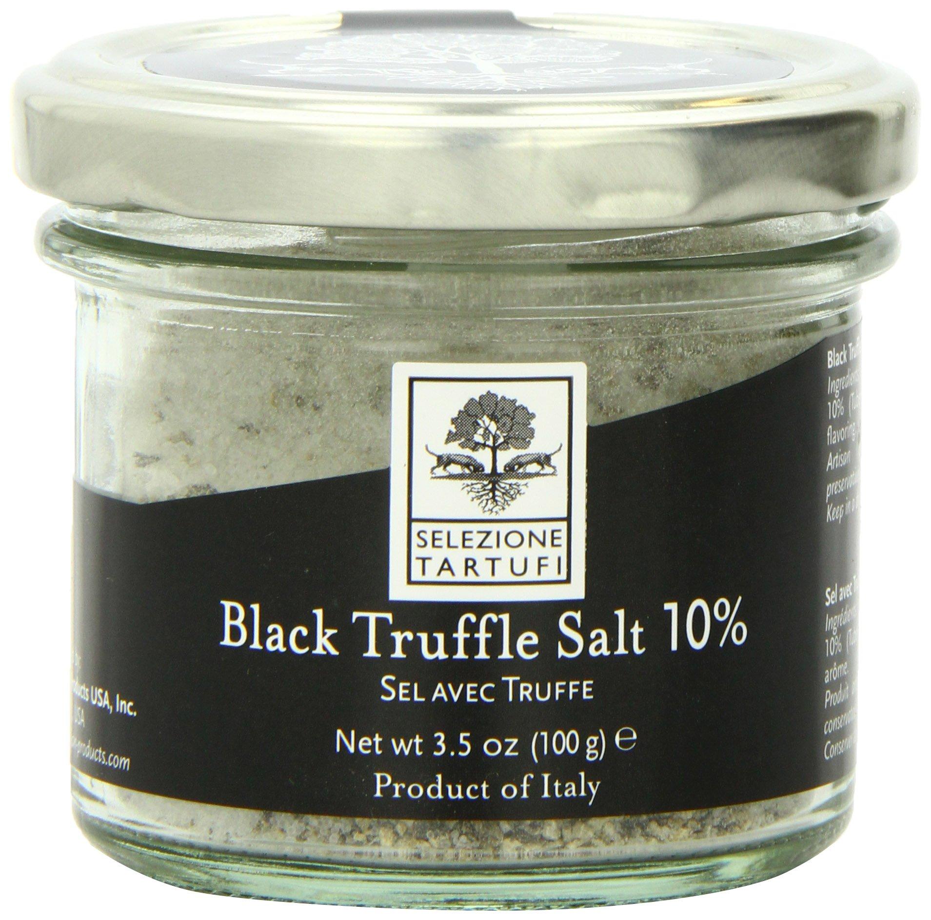 Selezione Tartufi Black Truffle Salt 10%, 3.5 Ounce Unit by Selezione Tartufi
