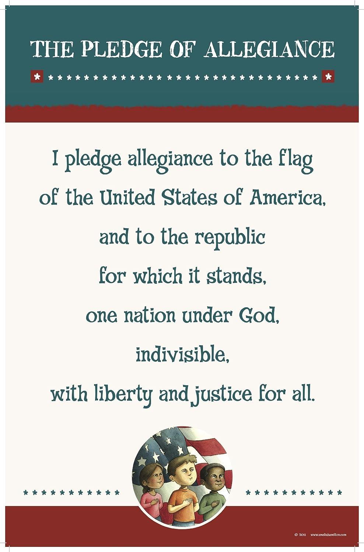 amazon com pledge of allegiance poster prints posters u0026 prints