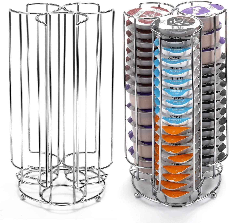 Vinsani 48 Coffee Pod Holder Chrome 3 Tower Storage Stand for Tassimo Coffee Capsules