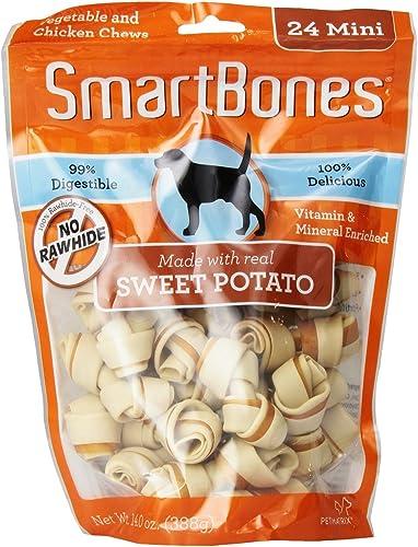 SmartBones Sweet Potato Dog Chews, Mini, 24ct 2 pack