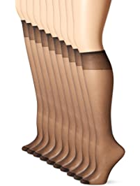 1b992978d12 L eggs Women s 10 Pair Everyday Reinforced Toe Knee Highs