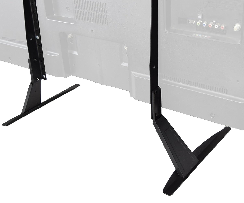 amazoncom vivo universal lcd flat screen tv table top stand  - amazoncom vivo universal lcd flat screen tv table top stand  base mountfits  to  tv (standtvt) electronics