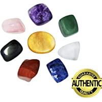 Chakra Stones Healing Crystals Set of 8, For Crystal Healing Meditation, Reiki or As Worry Stones or Palm Stones Thumb Stones and Crystal Therapy
