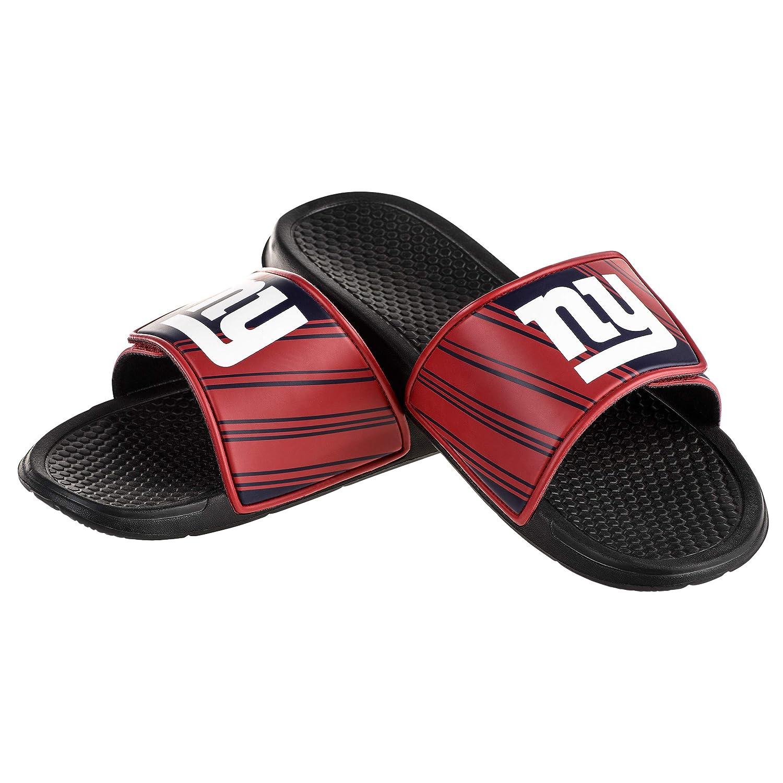 Team color XL   1314 FOCO NFL Mens Legacy Stripe Sport Shower Slide Sandals