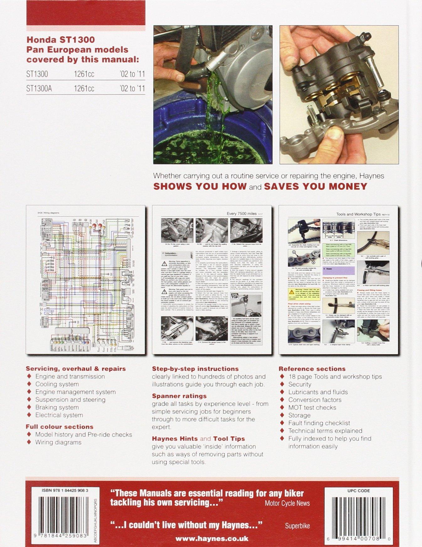 Honda ST1300 Pan European 2002 - 2011 (Haynes Service & Repair Manual):  Amazon.co.uk: Anon: 9781844259083: Books