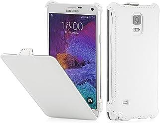 StilGut Slim Case, custodia per Samsung Galaxy Note 4, bianco vintage