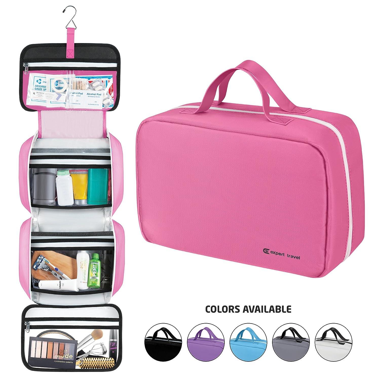 Amazon.com: Hanging Travel Toiletry Bag for Men and Women | Makeup ...