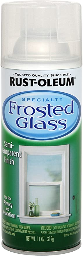 Rust Oleum 1903830 Frosted Glass Spray Paint 11 Oz Frosted Glass Spray Paints Amazon Com