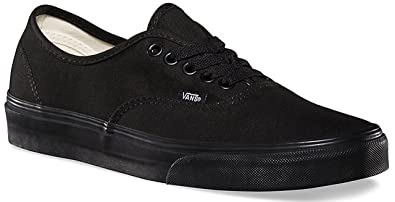 dc77455405 Vans Authentic Black Canvas Unisex Skate Trainers Shoes  Amazon.co ...