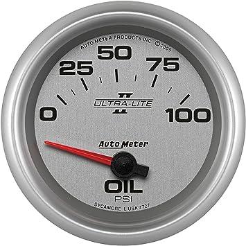 Auto Meter 1226 American Muscle 2-1//16 0-100 PSI Short Sweep Electric Oil Pressure Gauge