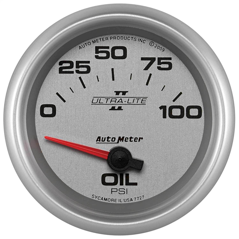 Auto Meter 7727 Ultra-Lite Pro II 2-5/8'' 0-100 PSI Short Sweep Electric Oil Pressure Gauge