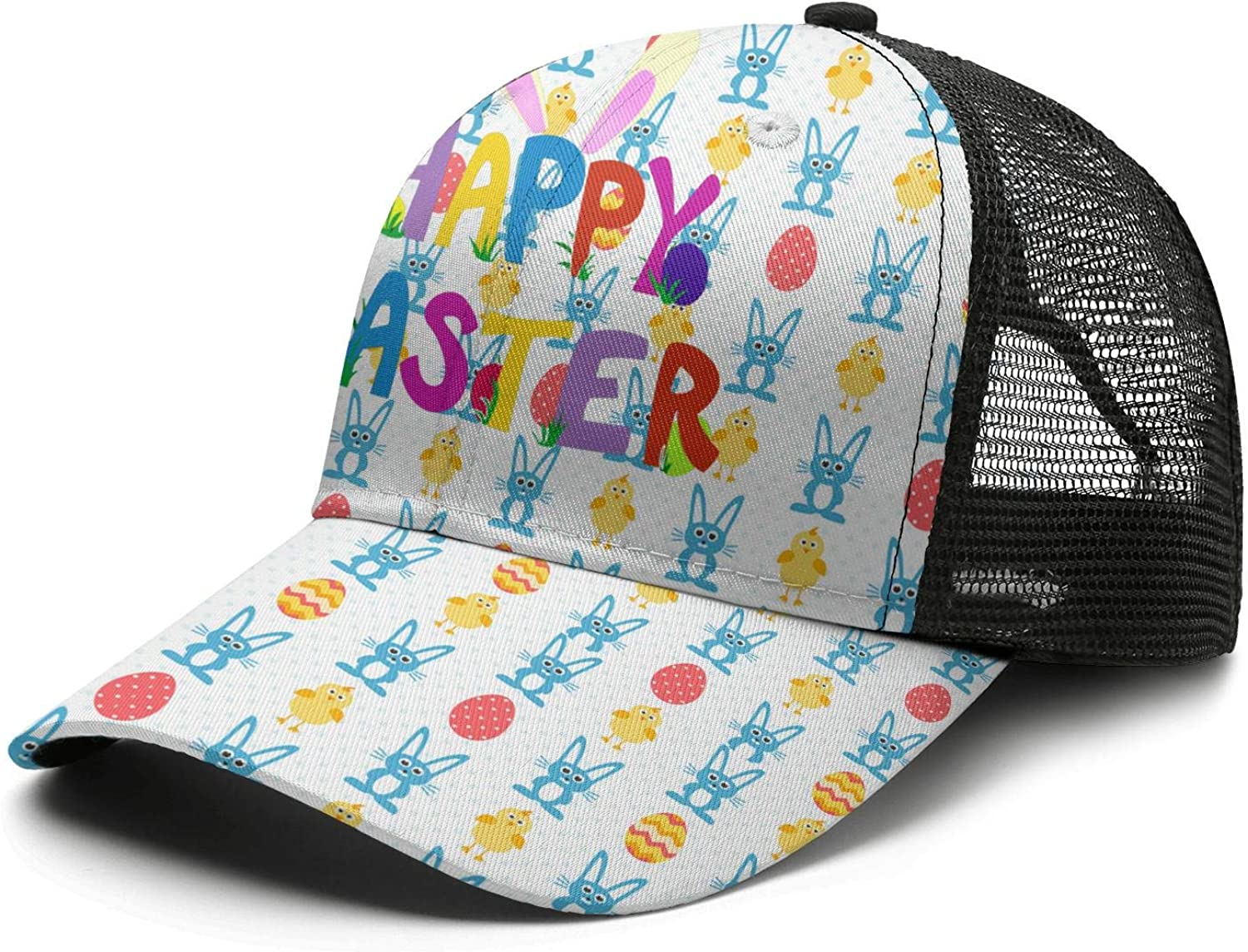 Easter DAP Hats Washed for Womens Classic Adjustable Plain Hat Go Bunnies Happy Easter
