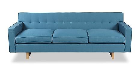 Fabulous Kardiel Kennedy Mid Century Modern Classic Sofa Urban Surf Vintage Twill Evergreenethics Interior Chair Design Evergreenethicsorg