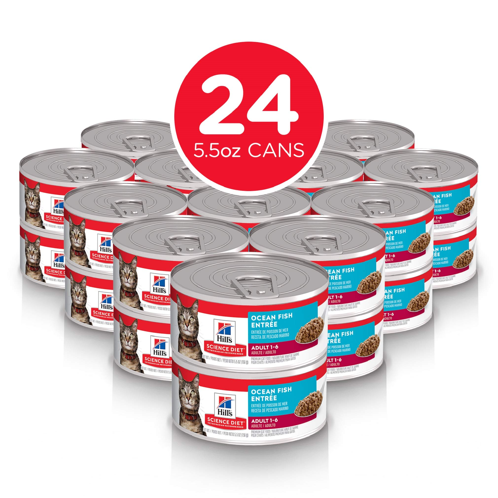 Hill's Science Diet Wet Cat Food, Adult, Tender Tuna Recipe, 5oz Cans, 24 Pack by Hill's Science Diet