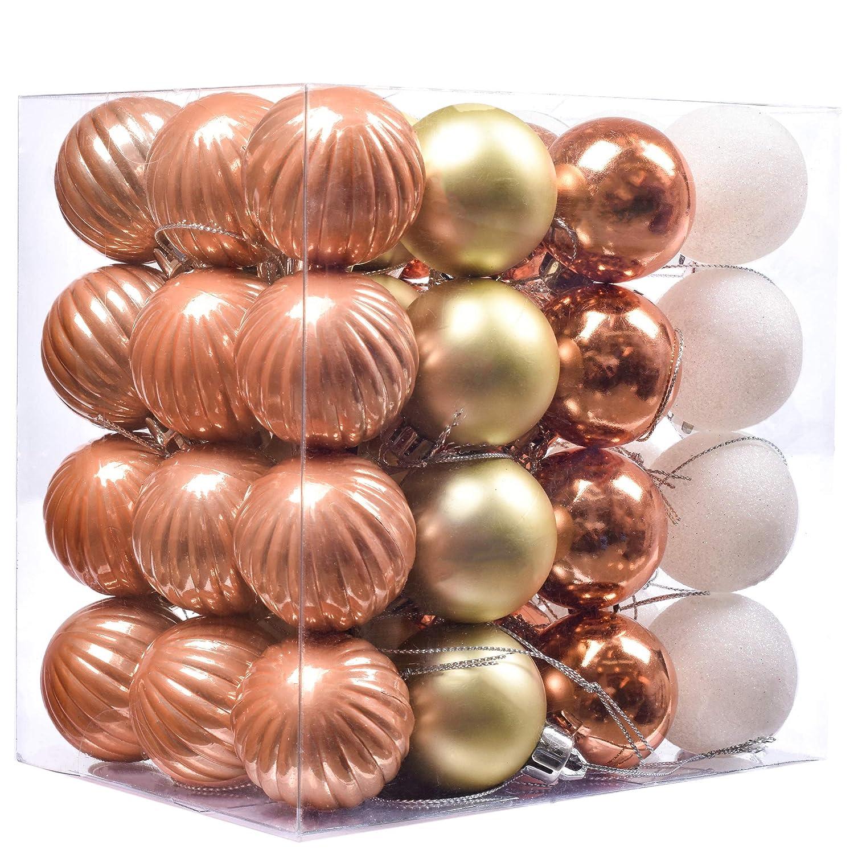 17d1d6d13c9 Valery Madelyn 48 Piezas de Bolas de Navidad Alegres Ornamentos de Bola de  árbol de Navidad