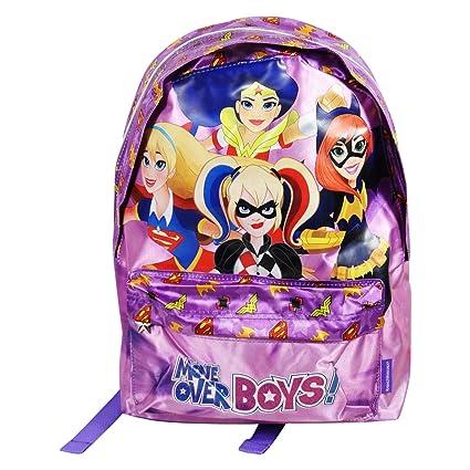 DC Comics Super Hero Girls Mochila Bolso Escolar Tiempo Libre Ninos