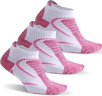 Facool Women's Moisture Wicking Athletic Cushion Hiking Camping Running Walking Ankle Socks 3/6 Pairs