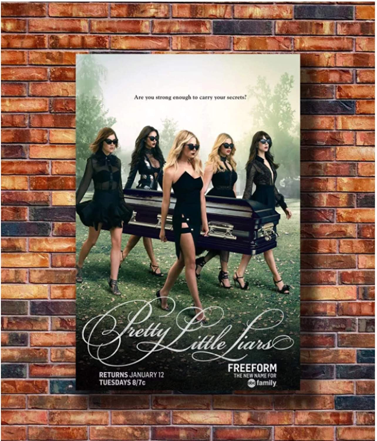 Swarouskll Hot Pretty Little Liars Canvas Wall Art Painting Poster Prints Picture for Living Room Home Decorations Decor Gift -20x28 Inch No Frame
