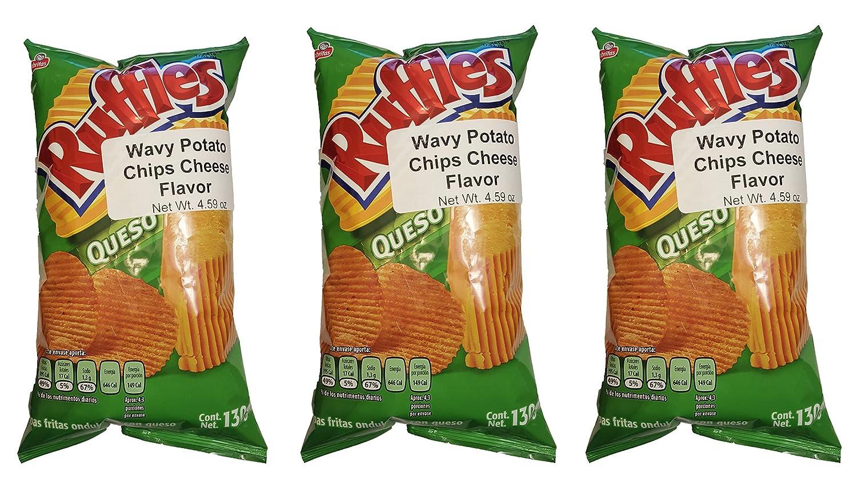 Sabritas Mexican Chips Large Bag (3-pack) (Botanas Mexicanas Bolsa Grande) ((3- Pack) Ruffles Queso 4.59 oz)