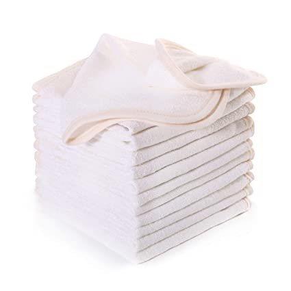 Luckiss Bamboo Dish Cloths Extra Soft Absorbent Quick Dry Terry Kitchen Rags  For Drying And Washing