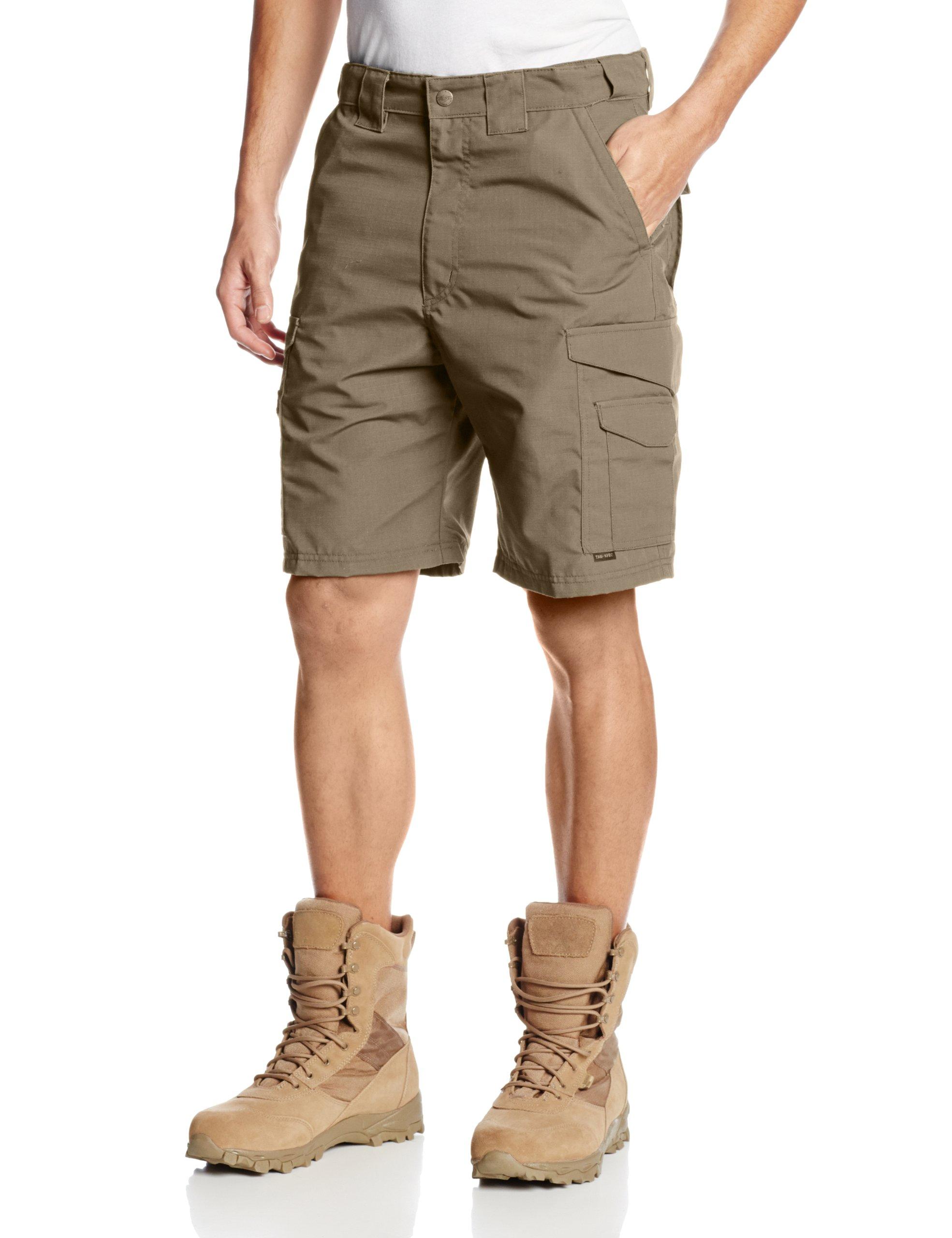 TRU-SPEC Shorts, 24-7 Kh 9'' P/C R/S, Khaki, 38