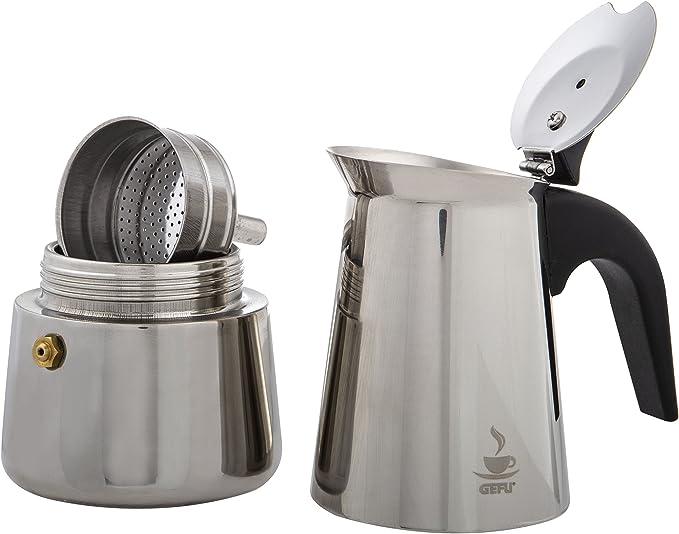 GEFU espresso Fornello Per Emilio espresso-Bricco per tazze 4 adatta induzione 16150