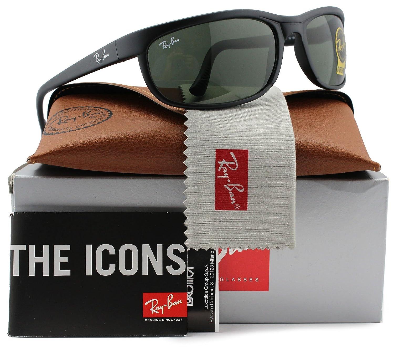 8c6272e104a Amazon.com  Ray-Ban RB2027 Predator 2 Sunglasses Matte Black w Crystal  Green (W1847) 2027 W1847 62mm Authentic  Clothing