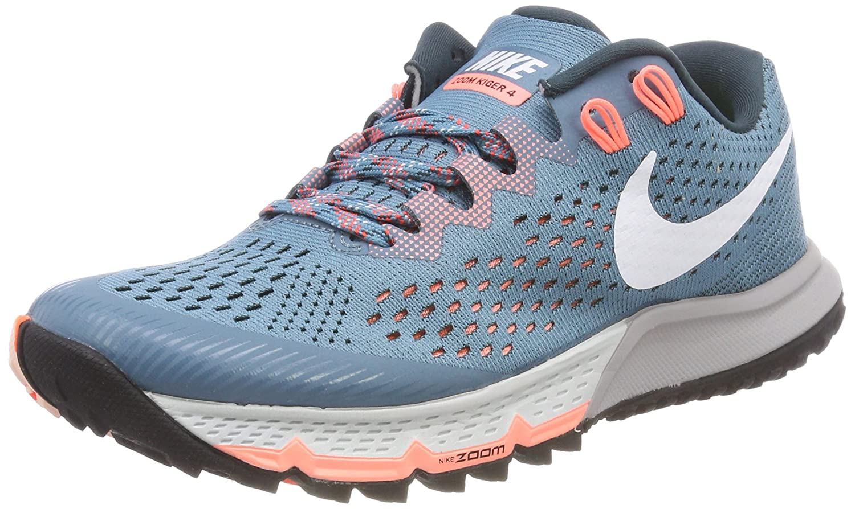 Nike W Air Zoom Terra Kiger 4, Zapatillas de Running para Mujer 36.5 EU|Azul (Aguamarina Ruido / Jungla Intenso / Carmesí Pulso / Blanco 401)