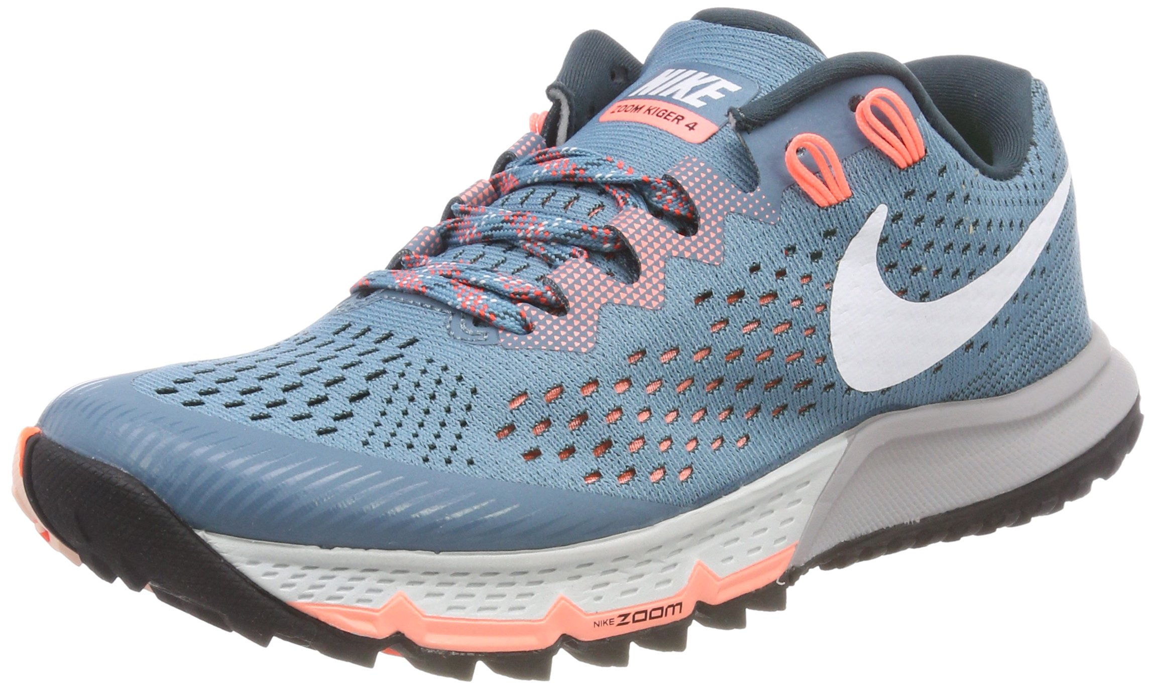 low priced e483b 9c636 Galleon - Nike Women s Air Zoom Terra Kiger 4 Trail Running, Noise  Aqua White-Jungle, 8