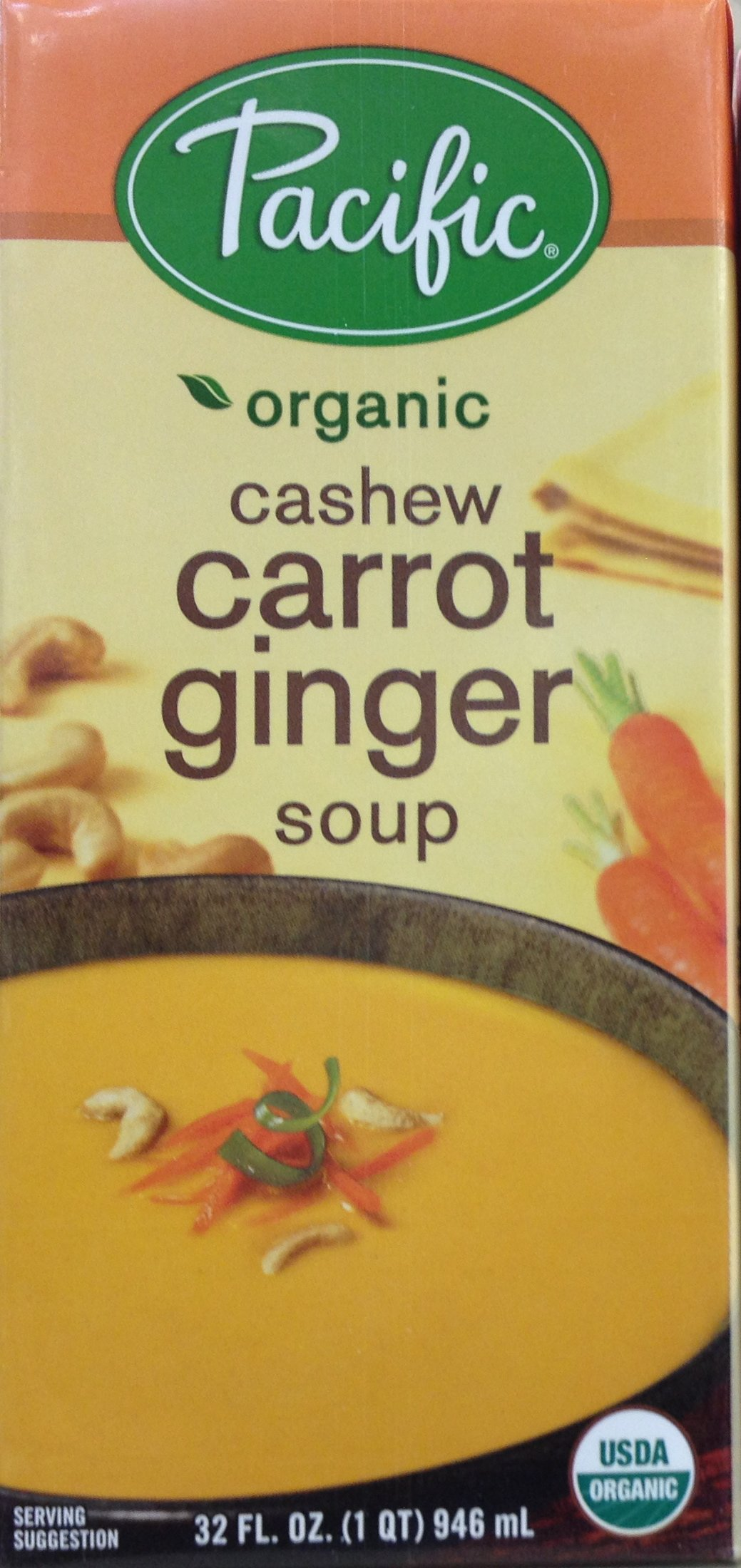 Pacific Foods Soup Rte Cashew Carrot Gn