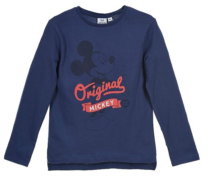 Mickey Mouse Niños Camiseta de Manga Larga: Amazon.es: Ropa y ...