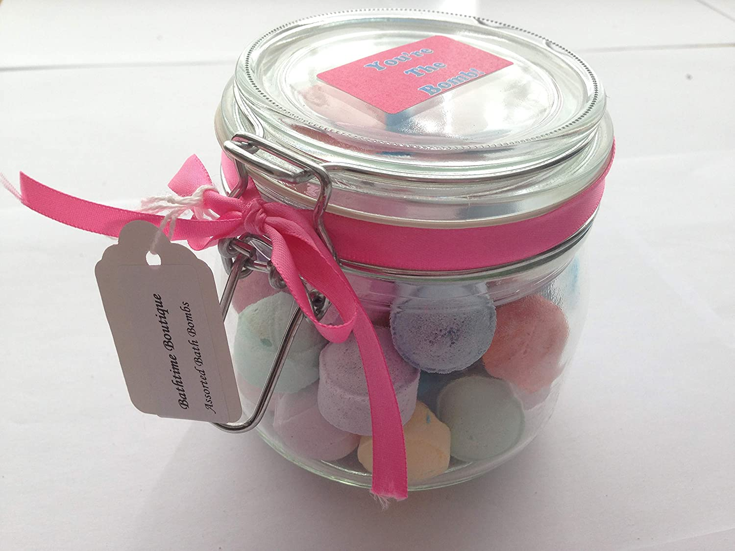 Bathtime Boutique - Chill Pill, Mini Marble Bath Bomb Gift Set Jars. Assorted colours. Perfect christmas, birthday gifts Bathtime Boutique Ltd