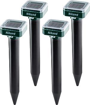 NIKAND Solar-powered Mole Repeller 4 Spikes