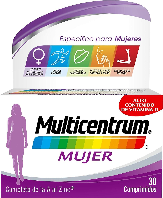 Multicentrum Mujer, Complemento Alimenticio con 13 Vitaminas y 11 Minerales, para Mujeres a partir de 18 años - 30 Comprimidos