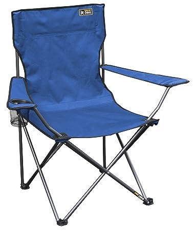 Quik Chair Folding Quad Mesh Camp Chair   Blue
