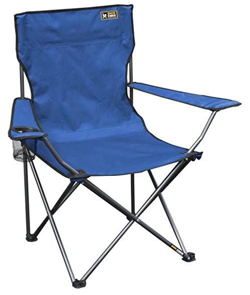 Charming Quik Chair Folding Quad Mesh Camp Chair   Blue