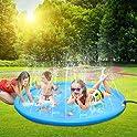 """Leehur 67"""" Sprinkler Splash Outdoor Summer Water Play Pad Mat"""