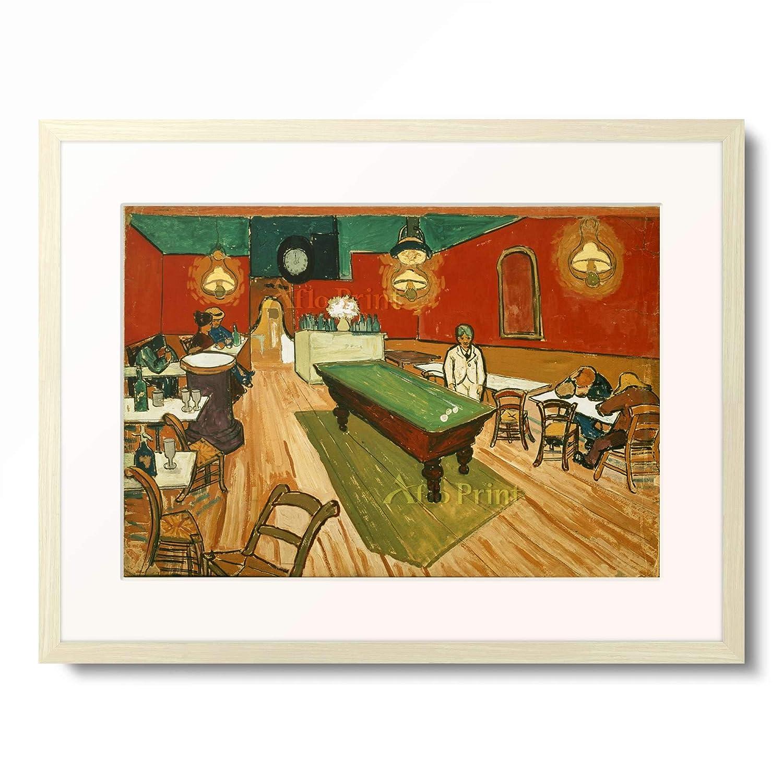 フィンセントファンゴッホ Vincent Willem van Gogh 「Night Cafe in Arles」 額装アート作品 B07PGDWHR3 02.木製額 12mm(乳白) L(額内寸 509mm×394mm) L(額内寸 509mm×394mm)|02.木製額 12mm(乳白)