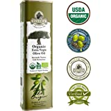 Ellora Farms | USDA Organic 100% Greek Extra Virgin Olive Oil | Koroneiki Variety Olives | Single Origin & Traceable | 17 oz BPA Free Tin