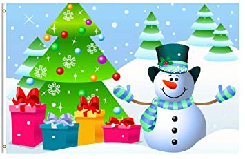 shinesnow snowman merry christmas tree gift snow winter happy new year 3x5 feet flag polyester