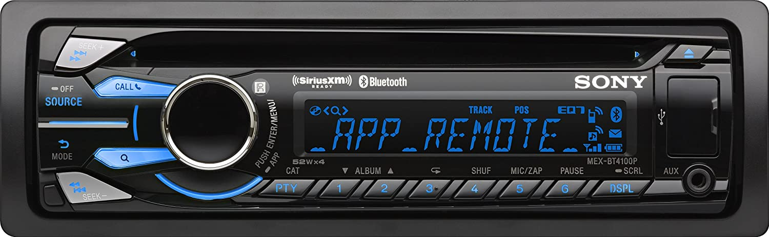 Sony MEXBT4100P Bluetooth Digital Media CD Receiver with App Remote & Pandora Control (Discontinued by Manufacturer)
