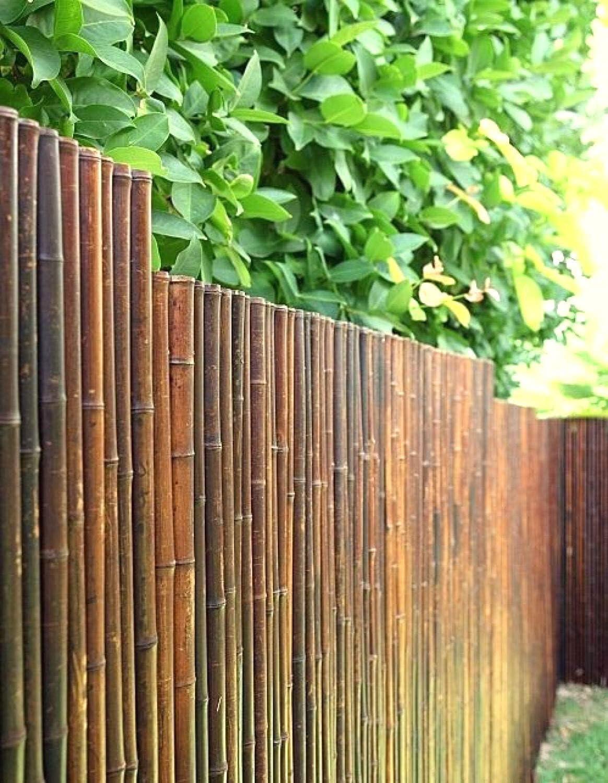 De Commerce Robuster Bambus Holz Sicht Schutz Zaun Aty Nigra