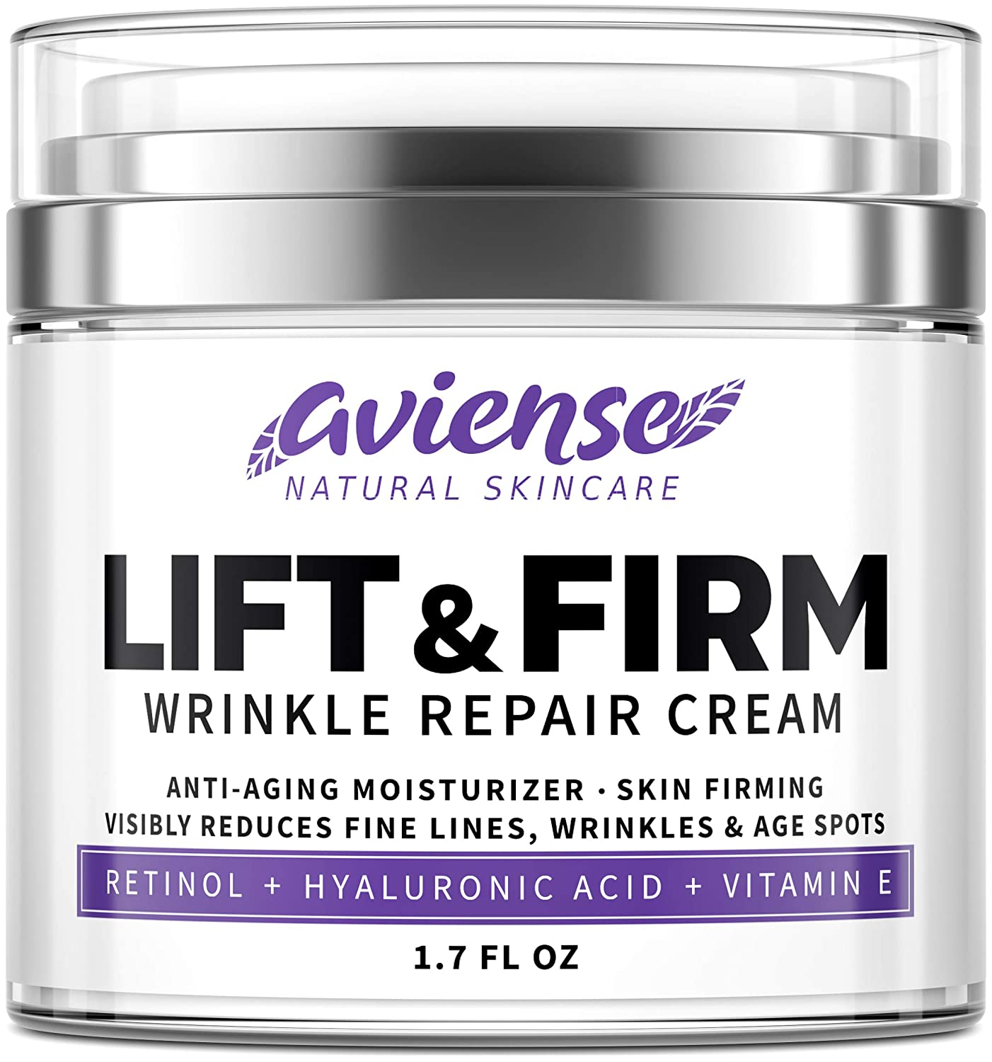 Anti Wrinkle Cream for Face - Retinol & Collagen Anti Aging Cream - Made in USA - Fine Lines & Wrinkle Repair - Retinol Cream for Face with Hyaluronic Acid & Vitamin E - Face Moisturizer for Women & Men