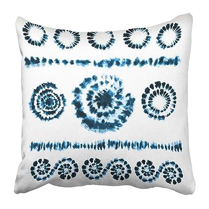 Emvency Throw Pillow Covers Cases Decorative 20x20 Inch Tie Dye Brushes in  Shibori Ribbon Border Ethnic 27f269c507