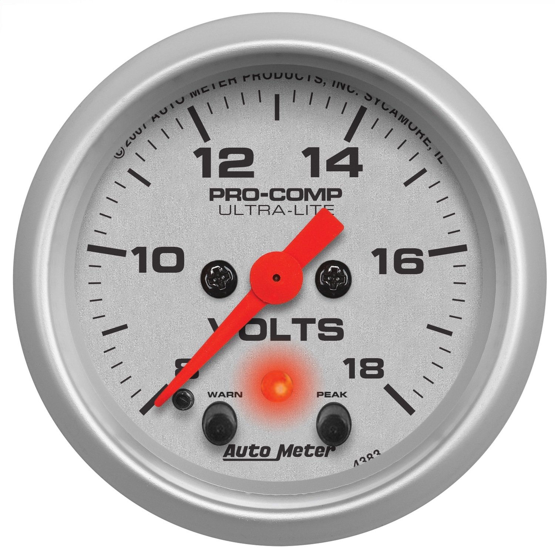 Auto Meter 4383 Ultra-Lite Electric Voltmeter Gauge