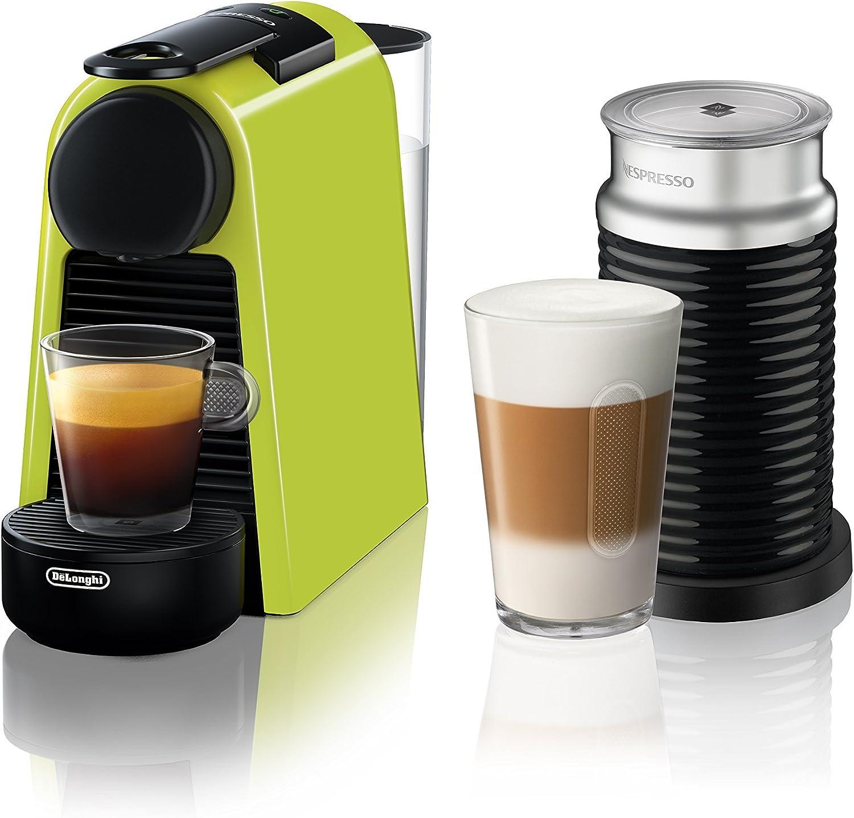Nespresso by De Longhi EN85LAE Essenza Mini Original Espresso Machine Bundle with Aeroccino Milk Frother by De Longhi, Lime